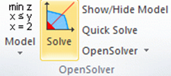 solve opensolver